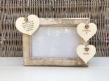 Shabby personalised Chic Photo Frame In Memory Of Dad ~ Father ~ Daddy Any Name - 253965301547
